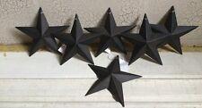 "Set of 24 ~ Black Barn Stars 5.5"" """"CRAFT SUPPLIES"""" SLIGHT SCUFF/NICK Rustic"