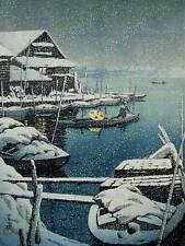 CULTURAL LANDSCAPE SNOW LAKE Mukajima Kawase Hasui POSTER ART PRINT BB830B