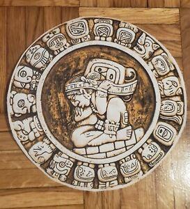 AZTEC Maya CALENDAR Mayan Retro RARE PRINTED patch sew COTTON CANVAS