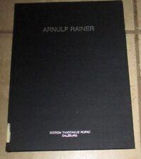Arnulf Rainer Deathmasks Handpaintings Hardcover Illustrated 1986