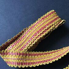 Grand Galon Passementerie ANCIEN 2,7 m ANTIQUE FRENCH Ribbon 1900