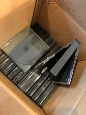 Quad Clear CD DVD Jewel Cases with Black Tray Standard Size Hold 4 Lot of 24