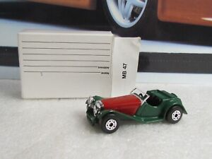 MATCHBOX - JAGUAR SS100  - 1/50 SMALL SCALE TOY - 1982 MAIL ORDER MODEL - MB47