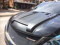 MATTE BLACK BONNET SCOOP SID HOOD VENT COVER MAZDA BT50 BT-50 PRO 2012 13 14 15