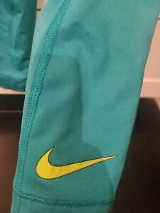 Women's Nike Dri Fit Leggings Size Medium Turquoise GYM