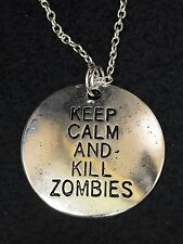Keep Calm Kill Zombies Large Charm Only No Chain Qty 5 *4*