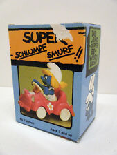 Schleich Smurfs Super Smurf Smurfette Pink Car with box 4.0241  X0094