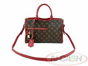 BIDSALEONLY! AUTHENTIC $2370 LOUIS VUITTON Popincourt PM Cerise Monogram Bag