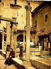 Vintage photographie couleur teinte monastère Ragusa Sicile Italie Poster lv4910
