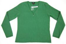 NWT! Madison Studio Cashmere Size L Pine Grove Green V-Neck Sweater $100.00
