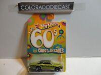 Hot Wheels Cars of the Decades Green '67 Pontiac GTO