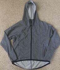 Athleta Full Zip Hooded Jacket Gray Stretch Thumbholes Womens XS MINT