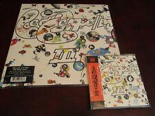 LED ZEPPELIN III JAPAN REPLICA DIE-CUT EXACT TO LP OBI CD + 180 GRAM 2 LP SET