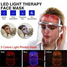 3 Colors Led Light Photon Facial Mask Therapy Skin Acne Wrinkle Beauty Machine