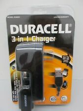 NEW DURACELL 3 in 1 Cell Phone Charger Model DU8001 iPhone, LG, Samsung