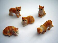 DOLLS HOUSE GINGER, CAT RESIN PET MINIATURE 12 TH SCALE , NEW