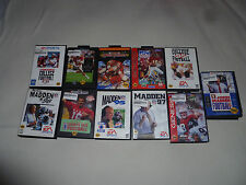 BOXED SEGA GENESIS GAME LOT MADDEN 93 95 96 97 BILL WALSH COLLEGE FOOTBALL NFL >