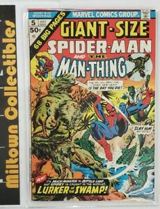 Giant-Size Spiderman and the Man Thing 5 - Comic Book-