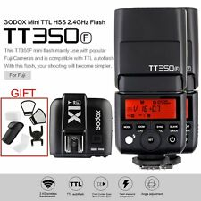 Godox Mini TT350F TTL HSS Camera Flash Speedlite 2Pcs+ X1T-F Trigger fr Fujifilm