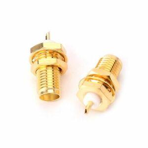 1× SMA-KY RF Connectors SMA Female Nut Bulkhead Handle Deck Clip Solder Adapter
