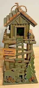 """13"""" Tall Ranger Station Wooden Decorative Bird House AWESOME!"""