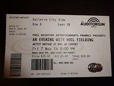 Noel Fielding Unused Concert Ticket - Liverpool Auditorium 7 November 2014
