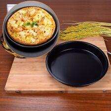 New Round Deep Dish Non-stick Pizza Pan Pie Baking Tray Kitchen Tool 24cm Steel