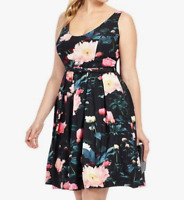 City Chic Sleeveless Floral Delight Fit And Flare Dress Size XL (22W) - No af0ac051f