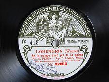 78rpm EMILIO PEREA & FAUSTA LABIA sing Wagner & Boito - FONOTIPIA TOP COPY !