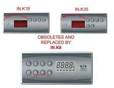 Aeware by Gecko IN.K19 & IN.K35 spa keypads replaces by new model IN.K8 3outputs
