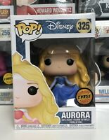 ⭐️Disney Princess- Aurora Dancing CHASE BLUE DRESS #325 Funko Pop +Protector⭐️