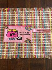 Vtg. Mr. Men LITTLE MISS CHATTERBOX  zip Pouch Wristlet Vinyl School Pencil Case