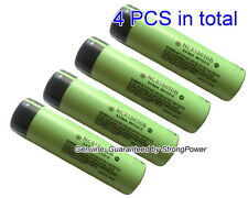 4 Genuine PANASONIC NCR18650B High Drain Flat Top Battery 3400mAh 3.7V(4PCS)