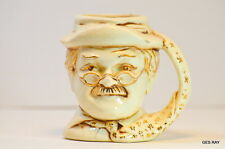 Atlantic Mold signed Sally Bush Man Face Small Jar Mug for the tooth picks