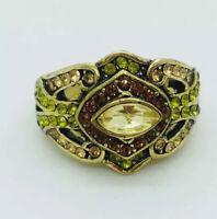 Heidi Daus Masterful Multi stone Marquise Crystal Ring Size 7