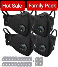 4 Mask + 24 Filters Set Face Mask with Easy Breathing Valve Unisex Adult Teens
