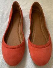 FRYE CARSON SUEDE BALLET FLATS WOMENS SIZE 7 CORAL EXCELLENT CONDITION