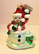 Christopher Radko Southpaw Lefty Snowman Christmas Ornament (retired)