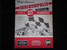 1951 Floyd Clymer's Indianapolis official 500 mile yearbook winner Lee Wallard