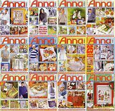 ANNA Spass an Handarbeiten Ausgaben-Auswahl aus 1999  ! Zeitschriften