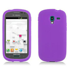 For Samsung Galaxy Exhibit T599 Rubber SILICONE Skin Case Phone Cover Purple