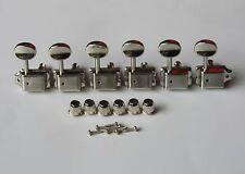Split Shaft Vintage Guitar Tuning Key Tuners Machine Heads for Strat Tele Nickel
