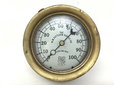 Vintage Antique WM Pattison Supply Ashcroft Pressure Gauge Steampunk 0-100PSI