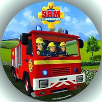 Oblate Tortenaufleger Tortenbild Geburtstag Feuerwehrmann Sam T6   ( w )