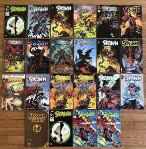 HUGE SPAWN Image Comics LOT OF 22 TODD MCFARLANE (READ DESCRIPTION)