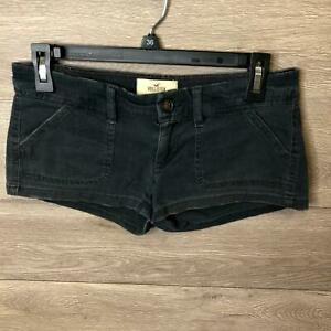 """Hollister Womens Size 1 Black SoCal Stretch Twill Shorts NWOT """"Used"""""""