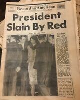 President Kennedy Death Several Newspapers Boston Globe And Record American