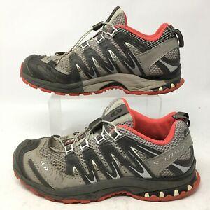 Salomon Womens 7.5 XA Pro 3D Ultra 2 Trail Hiking Sneakers Grey Low Top 128509