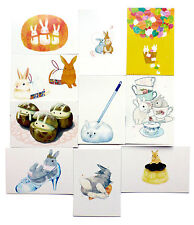 Cute Postcards EASTER BUNNY Set of 10 Picture Frames Printed on 350gm