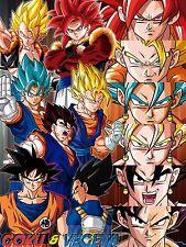 Poster A3 Dragon Ball Gogeta All Transformations Manga Anime Cartel